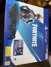 EMPTY BOX ONLY - PS4 Sony PlayStation 4 Fortnite Console Bundle - Jet Black