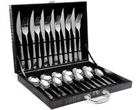 Flatware Tableware Box Set 24 Piece Silverware Stainless Steel Cutlery Serve 6