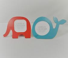 Gisela Graham Animal Design Wooden Nursery Photo Pic Frame Baby Novelty Gift Red Elephant