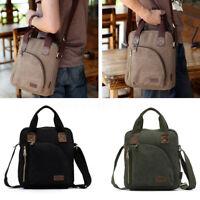 Men Women Canvas Leather Handbag Messenger Crossbody Tote Shoulder Bag Satchel
