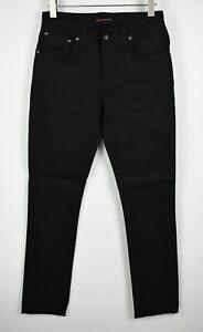RRP NUDIE GRIM TIM ORG. BLACK RING Men W30/L32 Stretch Organic Jeans 3791_mm
