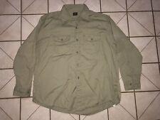 New listing Vtg Lee Chetopa Twill Union Made Work Shirt Side Gusset 1940s 1950s Sanforized