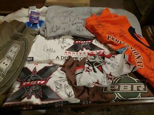 Professional Bull Riders PBR Signed --T shirts 2000-2009  13 pieces total xl