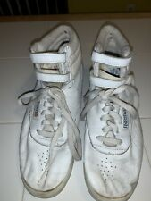 Reebock Vintage Classic White High Top Tennis Shoes 1980s Women's Size 10