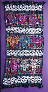 Antique/Vintage Handwoven Guatemalan Textile Rebozo/Shawl/Tzute from Nebaj