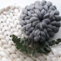 Thick Sofa Chunky Knit Pillow Round Hand Yarn Bulky Throw Cushion Pad Home Deco