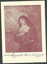 Estampa antigua de Santa Margarita de Alacoque andachtsbild santino holy card