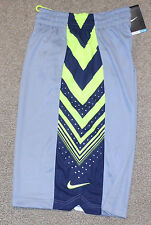 Nike sz S Sequalizer Men's Basketball Shorts NEW 613559 063 Grey w Navy & Volt