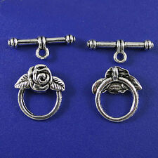 Tibetan Silver Toggle Clasp Findings 8 sets H0001