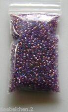 Perlen Glasperlen ROCAILLES  RAINBOW LILA HELL - 2,6 mm 20 g
