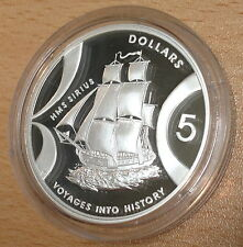 Australia 2002 plata prueba 1 OZ (approx. 28.35 g) $5 viajes a la historia-HMS Sirius