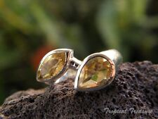 Citrine Duo & 925 SOLID Silver RING (Size 7 3/4)    #260679