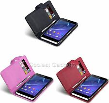 PU Leather Wallet Case Cover For Sony Xperia Z2 (2014) Model