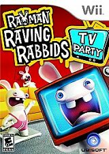 Rayman Raving Rabbids TV Party New and Sealed Free Shipping Wii