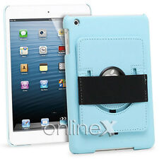 Funda Piel para iPad 2, 3, 4, 10.1 con Soporte Rotatorio Azul a746