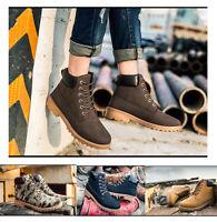 Men's Martin Boots Winter Warm Outdoor Walking Casual Waterproof Short Shoes