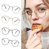 Fashion Retro Round Glasses Metal Frame Clear Lens Glasses Nerd Glasses