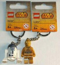 LEGO 853470 R2-D2 C-3PO 853471 R2D2 C3PO key chain Star Wars keychains lot droid