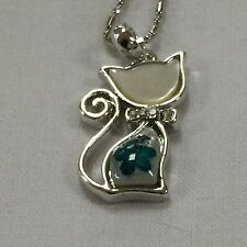 REAL FLOWERS CAT PENDANT -  (TURQUOISE)