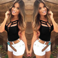 Sexy Women Summer V Neck Vest Top Sleeveless Blouse Tank Tops T-Shirt Casual