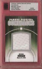 MICHAEL JORDAN GAME USED SHORTS card #d4/9 2010 FAMOUS FABRICS BULLS COMEBACK