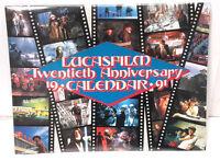 1991/2019 LucasFilm 20th Anniv Wall Calendar-Star Wars/Indiana Jones-SEALED
