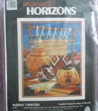 "MONARCH HORIZONS (Janlynn) LONGSTITCH/NEEDLEPOINT KIT INDIAN TAPESTRY 16"" x 20"""