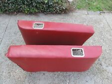 1963 1964 Buick ? Rear Seat Arm Rest Pair Side Panels RED Driver Quality