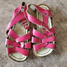 Salt Water sandals toddler 9M pink patent leather