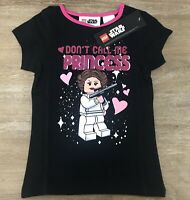 NWT Lego Star Wars Don't Call Me Princess Girls T-shirt Size:5 Color Black/Pink