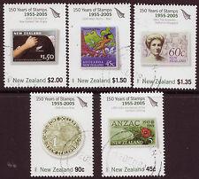 Nueva Zelanda 2005 150 años de Nueva Zelanda Estampillas Set De 5 Fine Used