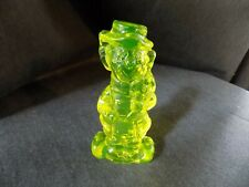 Boyd vaseline glass clown, smile on one side, frown on the other
