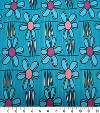 NEW Novelty Cotton Fabric Large Daisys By the Half Yard 100% Cotton DIY CRAFTS