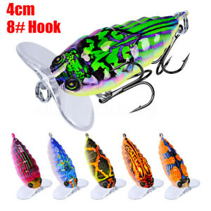 1Pcs 4cm/4g Popper Artificial Insect Sytle Topwater Fishing Lure 8#