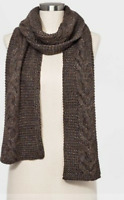 Universal Thread Women's Wool Cable Oblong Winter Scarf - Olive - New