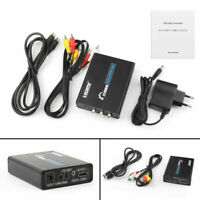 EU Puissance 3 RCA AV+S-Vidéo CVBS Composite R/L l'audio à HDMI 1080P Converter
