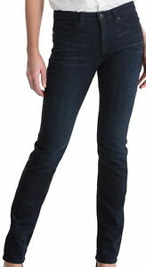 Spanx Womens The Slim-X Straight Slimming Jeans - Dark Dipped  FD1114