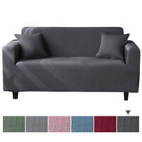 Jacquard Stretch Sofa Covers Spandex Chair Couch Slipcover Furniture Protector