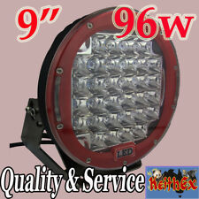 "9"" 96W LED Truck Ute Driving Work Lights 6000K White 12/24V Flood Spot Off Road"