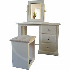HAND MADE DEWSBURY FURNITURE DRESSING TABLE SET IVORY(ASSEMBLED)