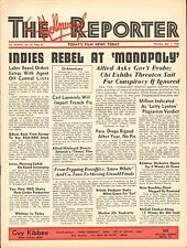 JULY 7 1938 HOLLYWOOD REPORTER vintage movie magazine INDIES REBEL AT MONOPOLY