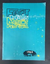 Forest Hills Music Festival 1963 Program Baez Ray Charles Ella + Nm Crisp Rare