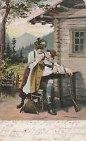 Postkarte verschickt von München nach Dorfen Altenmarkt Jahr 1905