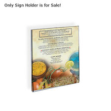 """Lots of 10 Acrylic Vertical Wall Mount Sign Holder w/ Adhesive Tape 5.5""""wx8.5""""h"""