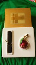 Estee Lauder 2001 RED CHERRY Solid Perfume Compact - Beautiful - in Box
