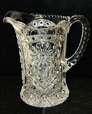"Imperial Glass "" Ohio Mayflower ""  Pressed Glass Pitcher"