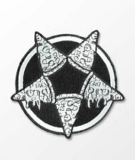 KILLSTAR Pizzagram Pizza Pentagram Patch Black White Goth Occult Punk Woven