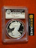 2011 W PROOF SILVER EAGLE PCGS PR69 DCAM RARE BLACK MERCANTI SIGNED LABEL