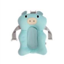 Estera de soporte de asiento de Baño Bebé Plegable Bebé Baño Bañera Almohada Infantil Antideslizante Suave