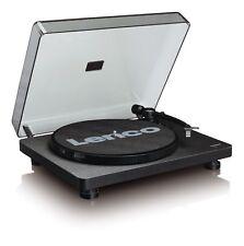 Lenco L-30 Black | 33 & 45 RPM Semi-Automatic Belt Drive USB Turntable for Vinyl